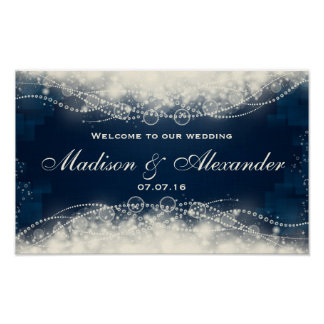 Customize Elegant Lace and Pearls Wedding Poster