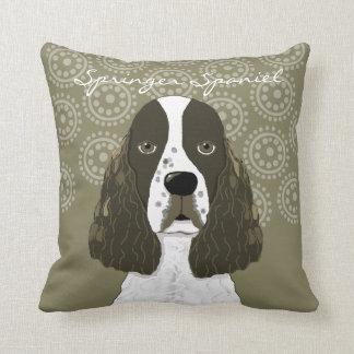 Customize English Springer Spaniel in Brown White Throw Pillow