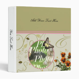 Customize Flowers Butterfly W/ Your Photo Binder