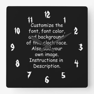 Customize Font Font Color Background Image Wall Clock