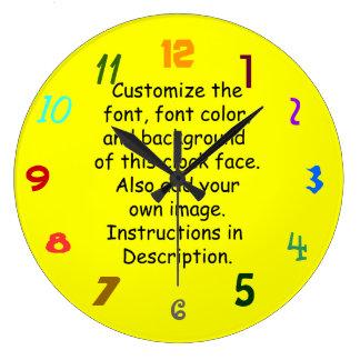 Customize Font, Font Color, Background, Image Large Clock