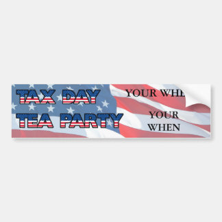 Customize For Your Tea Party Site Bumper Sticker