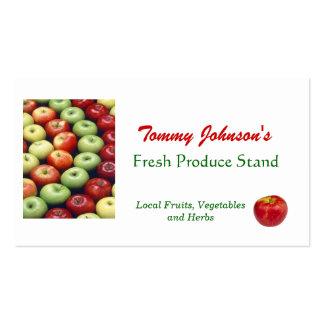 Customize Fresh Produce Vegetable Fruit Market Business Card