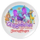"""Customize Fun Plate with """"The GiggleBellies"""""""