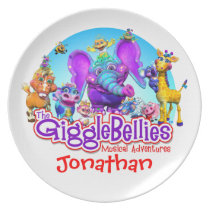 "Customize Fun Plate with ""The GiggleBellies"""