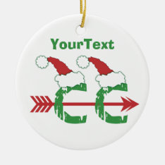 Customize Funny Christmas © Cross Country 1-sided Ceramic Ornament at Zazzle