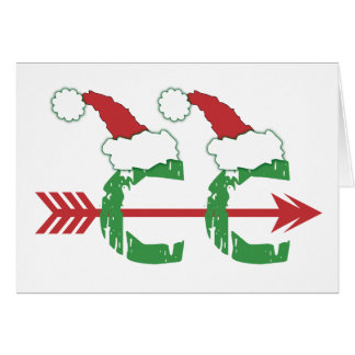 Customize - Funny Christmas Cross Country Running Card