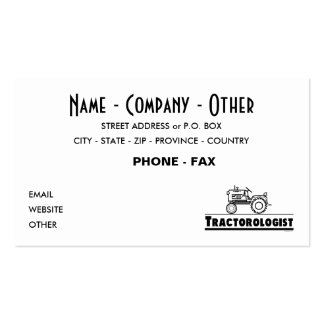 Customize Funny Tractor Business Cards