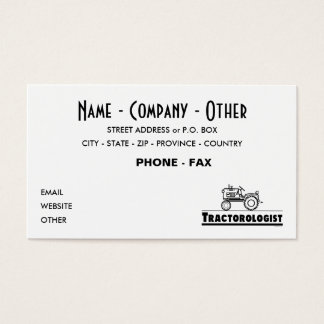 Customize Funny Tractor Business Card