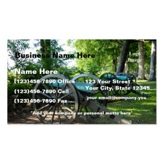 (Customize) Gettysburg National Military Park Business Card Template