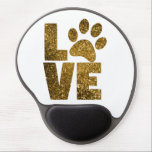 "Customize Golden Glitter Love Text with Animal Paw Gel Mouse Pad<br><div class=""desc"">Customize Golden Glitter Love Text with Animal Paw</div>"