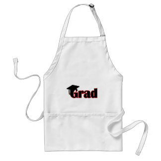 Customize Grad Design in Red Adult Apron