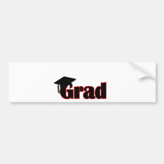 Customize Grad Design in Red Bumper Stickers