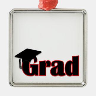 Customize Grad Design in Red Metal Ornament