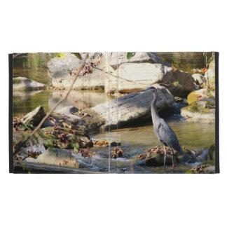 Customize Great Blue Heron standing in creek photo iPad Folio Covers