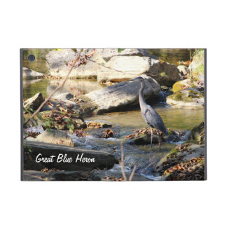 Customize Great Blue Heron standing in creek photo Cases For iPad Mini