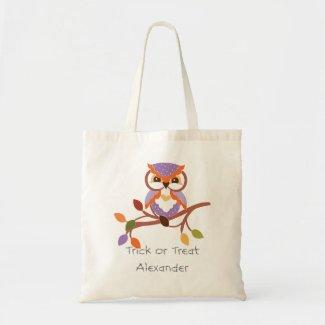 Customize Halloween Owl Trick or Treat Bag
