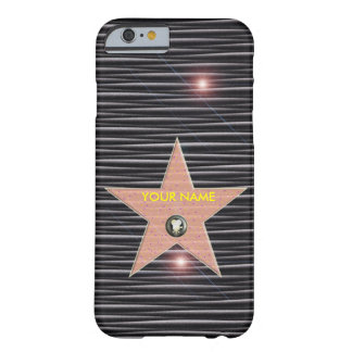 CUSTOMIZE HOLLYWOOD STAR POPULAR TEMPLATE CARBON BARELY THERE iPhone 6 CASE