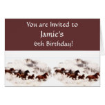 Customize Horse Birthday Invitations and Cards