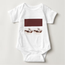 Customize Horse Birthday Invitations and Cards Baby Bodysuit