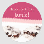 Customize Horse Birthday Invitations and Cards Sticker