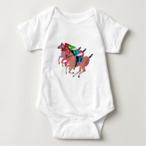 Customize Horse Racing  Design Baby Bodysuit