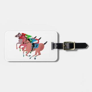Customize Horse Racing  Design Bag Tag