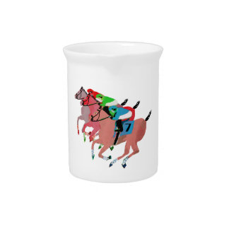 Customize Horse Racing  Design Beverage Pitcher