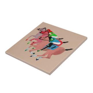 Customize Horse Racing  Design Ceramic Tile