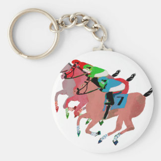 Customize Horse Racing  Design Keychain