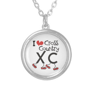 Customize I heart (love) Cross Country Running XC Necklace