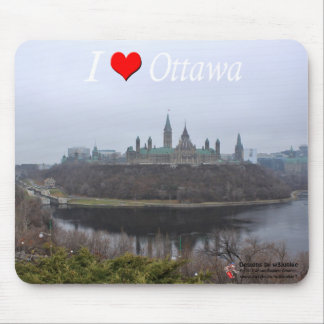 Customize I luv Ottawa mousepad of Parliament Hill