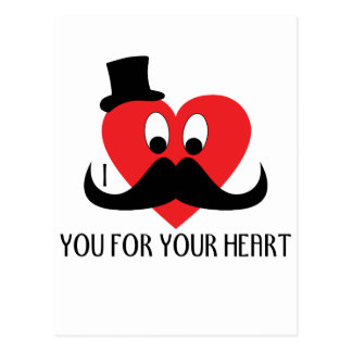 Customize I mustache you for your heart Postcard