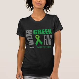 Customize I wear green awareness ribbon T-Shirt