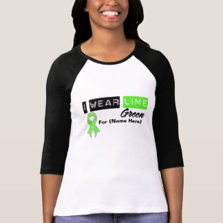 Customize I Wear Lime Green Non-Hodgkin s Lymphoma Tees