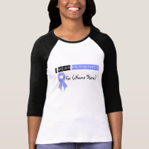 Customize I Wear Periwinkle Ribbon Stomach Cancer T-Shirt