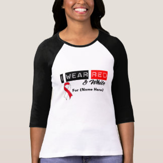 Customize I Wear Red & White Oral Cancer T-shirts