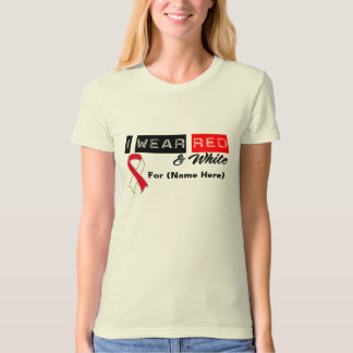 Customize I Wear Red & White Oral Cancer Tshirts