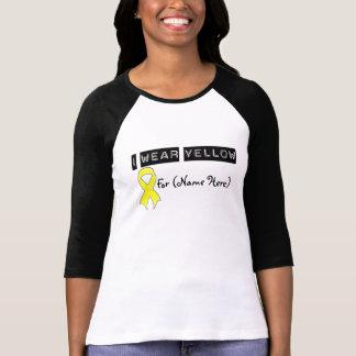 Customize I Wear Yellow Ribbon Testicular Cancer T Shirt