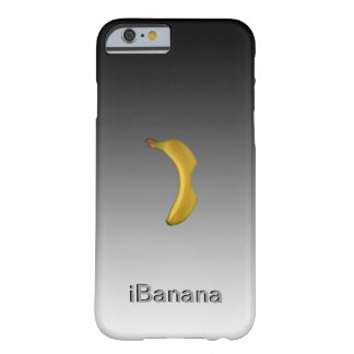 CUSTOMIZE iBanana 3D TEXT POPULAR METAL TEMPLATE Barely There iPhone 6 Case