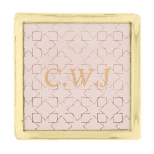 Customize Initials Gold Finish Lapel Pin