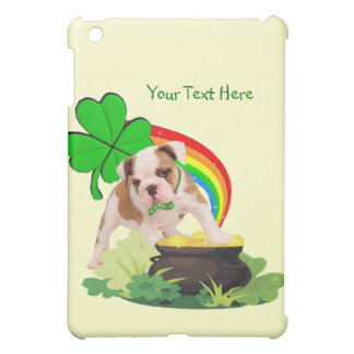 Customize It! - Bulldog Puppy St. Patrick's Day Cover For The iPad Mini