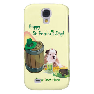 Customize It! - Bulldog Puppy St. Patrick's Day Galaxy S4 Case