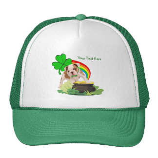 Customize It! - Bulldog Puppy St. Patrick's Day Trucker Hat