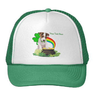 Customize It! Jack Russell St. Patricks Day Design Trucker Hat