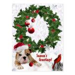 Customize It New Bulldog Puppy Christmas Version 2 Postcards