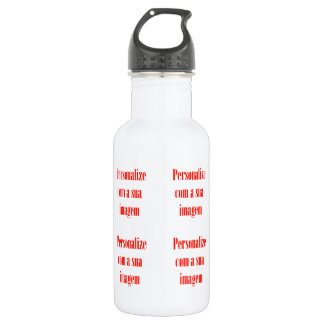 Customize it - Personalize com sua imagem Stainless Steel Water Bottle