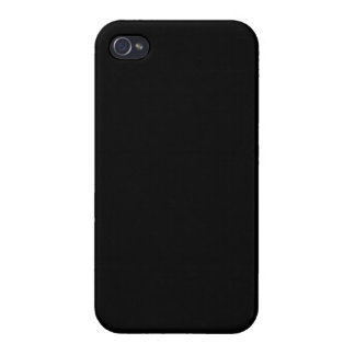 Customize it! Plain Solid Black Savvy iPhone 4 Cases