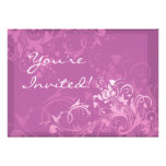 customize it pretty pink swirl floral design announcement