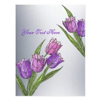 Customize It Tulips In Gorgeous Pastel Shades Postcard